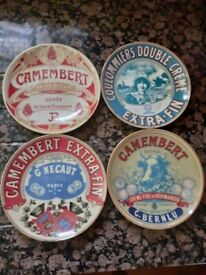 Stylish cheese plates with French designs