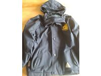 James Gillespies Primary fleecy rain jacket and polo top age 7-8