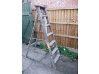 Vintage Decorators Ladders wooden Step Ladders