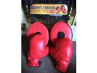 Kids boxing gloves with mitts set