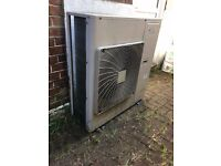2 x DAIKIN Outdoor Commercial Air Conditioning Units + 2 x Siesta Round Cassette Internal Uni