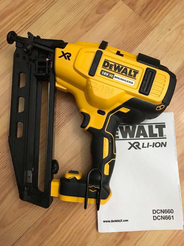 Brand new Dewalt 18v Li-ion XR Brushless DCN660N Second fix Nail gun.( makita milwaukee paslode fein