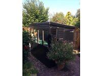 Black garden shed SOLD