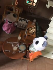 Sylvanian Families House with figures and furniture