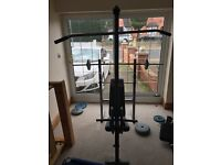 York bench with 162kg weights