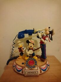 Mickey and Friends Dixieland Band Telephone - Mickey Mouse Musical Telephone - Fully Working