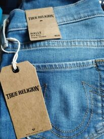 100% Authentic Halle Mid Rise Super Skinny True Religion Jeans £Rrp £205