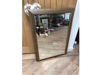 Lovely Wood Effect Framed Mirror