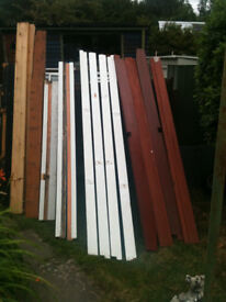 Various lengths of wood including hardwood