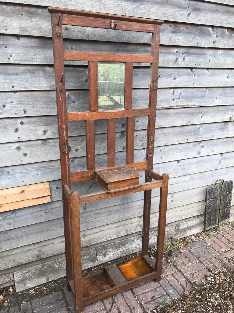 Oak Antique Coat Umbrella Stand