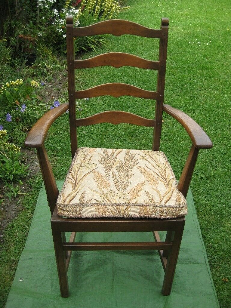Two Vintage Solid Wood Carving Chairs for only £45.00