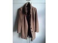 Zara beige coat - Size M