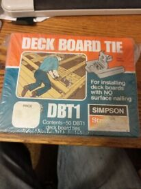 Simpson DBT Flush Deck Board Tie, Galvanized, designed for use with 35mm thick decking timber