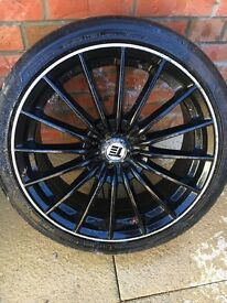 17inch black alloy wheel