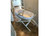 John Lewis Moses basket and stand - LIKE NEW