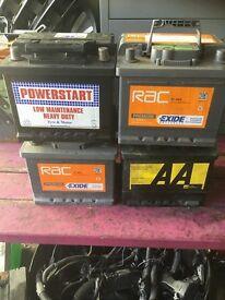 VARIOUS PETROL CAR BATTERIES FOR SALE