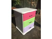 Upcycled Colourful Bedside Drawers