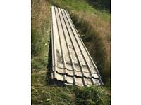 7 Metal roof sheets, roofing, garage, shed, barn 6m long