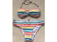 Ladies striped bikini size 8 unworn too small for me