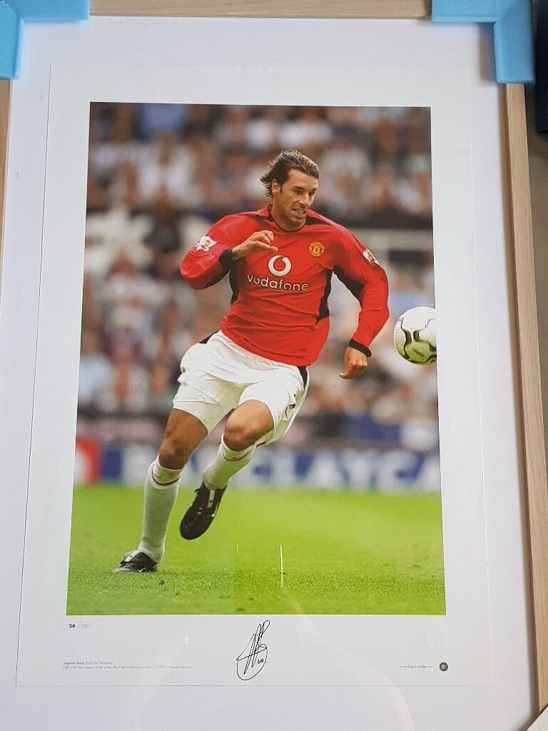 Signed rudd van nistelrooy photo