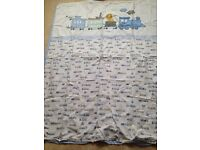 Cot bed train duvet cover and bedding set