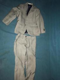 Next Grey suit boys 2-3y