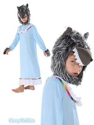 Wolf Halloween Costumes For Girls (Boys Girls Kids Wolf Granny Grandma Big Bad Wolf Riding Hood Halloween)