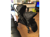 baby jogger city select double buggy/pram converts from pram to buggy easily from birth to 3 years