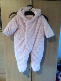 Pink Baby Snowsuit age 0-3 months