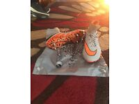 Grey/Orange Hypervenom sock boots