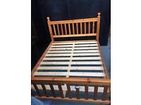 Solid chunky pine kingsize bed