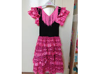 2 Girls red and pink spanish dressing up dresses £6 for both