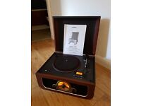 Steepletone RICO Retro 3-speed Turntable with CD Player, MP3 USB/SD, Radio FM/MW and AUX In