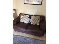 Leather sofa Brown 2 and 3 seater