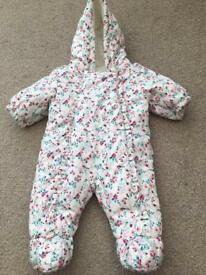 Butterfly snowsuit all in one first size