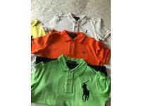 Boys Ralph Lauren polo tops age 5/6