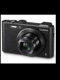 Panasonic LUMIX Camera with case and memory card