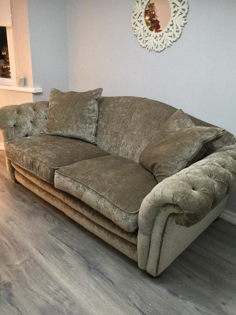 Dfs Loch Leven Sofa And Armchair Country Living Crushed Velvet Chesterfield