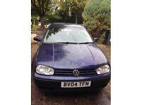 Golf 2004 1.6 petrol £400