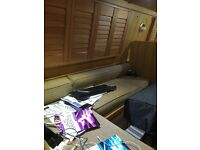 Dinette from a narrow boat in oak faced timber