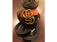 Gucci leather belts for woman.
