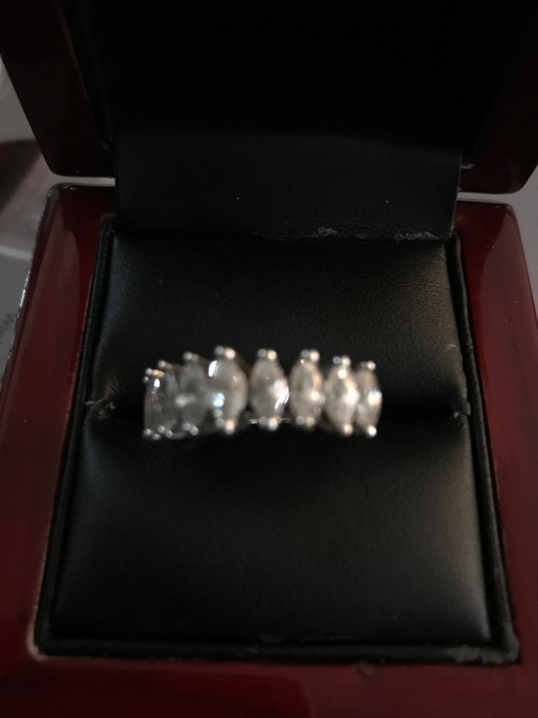 White gold cz ring