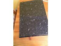 Kitchen worktop new black ebony granite gloss B&Q for quick sale must collect