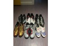 Job Lot Of Old Football Boots Sizes From 6-12 Nike Vapours Adidas F50 Predator
