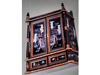 Oriental laquerd mother of pearl pillow cabinet forsale