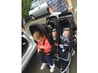 ****REDUCED PRICE ****T3 triple jogger/twin stroller