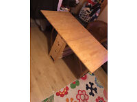 Solid Wood Ikea Norden Folding Table, with 6 drawers