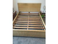 King size bed frame (Mattress optional)