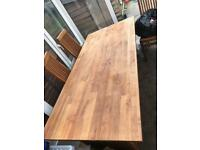 Solid wood dining table and 6 chairs, £100 ono