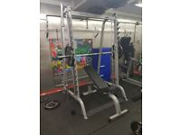 Plate loaded gym equipment